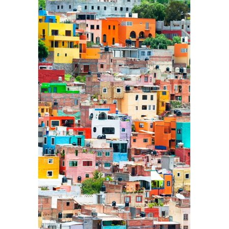 !Viva Mexico! Collection - Guanajuato - Colorful City XII Cityscape Photography Print Wall Art By Philippe Hugonnard