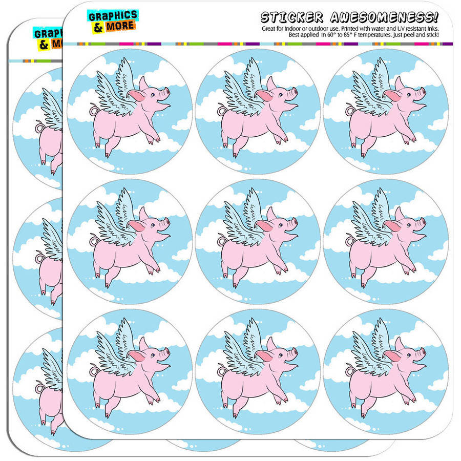 "Flying Pig 18 2"" Planner Calendar Scrapbooking Crafting Stickers"