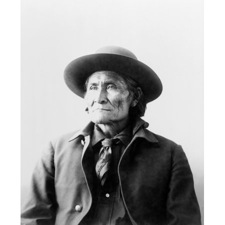 Geronimo  1829 1909  Namerican Apache Leader Photograph By Adolph Muhr C1898 Rolled Canvas Art     18 X 24