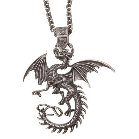 Medieval Dragon Pendant Necklace - Medieval Dragon Pendant
