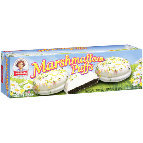 Little Debbie Snacks Marshmallow Puffs Cookies, 8 ct