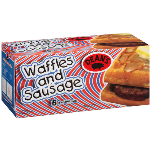 Dean's Waffle and Sausage Sandwiches, 6 ct, 15 oz