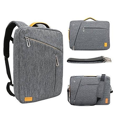 17.3 Inch Convertible Laptop Backpack WIWU Multi Functional Travel Rucksack Water Resistant Knapsack Work School College Backpac ()