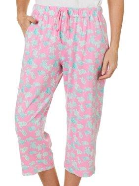Coral Bay Plus Turtle Print Capri Pajama Pants