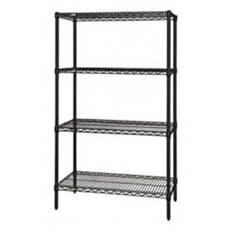 Black Wire Shelving 4 Shelf Unit - 24 x 24 x 86 in. - image 1 of 1