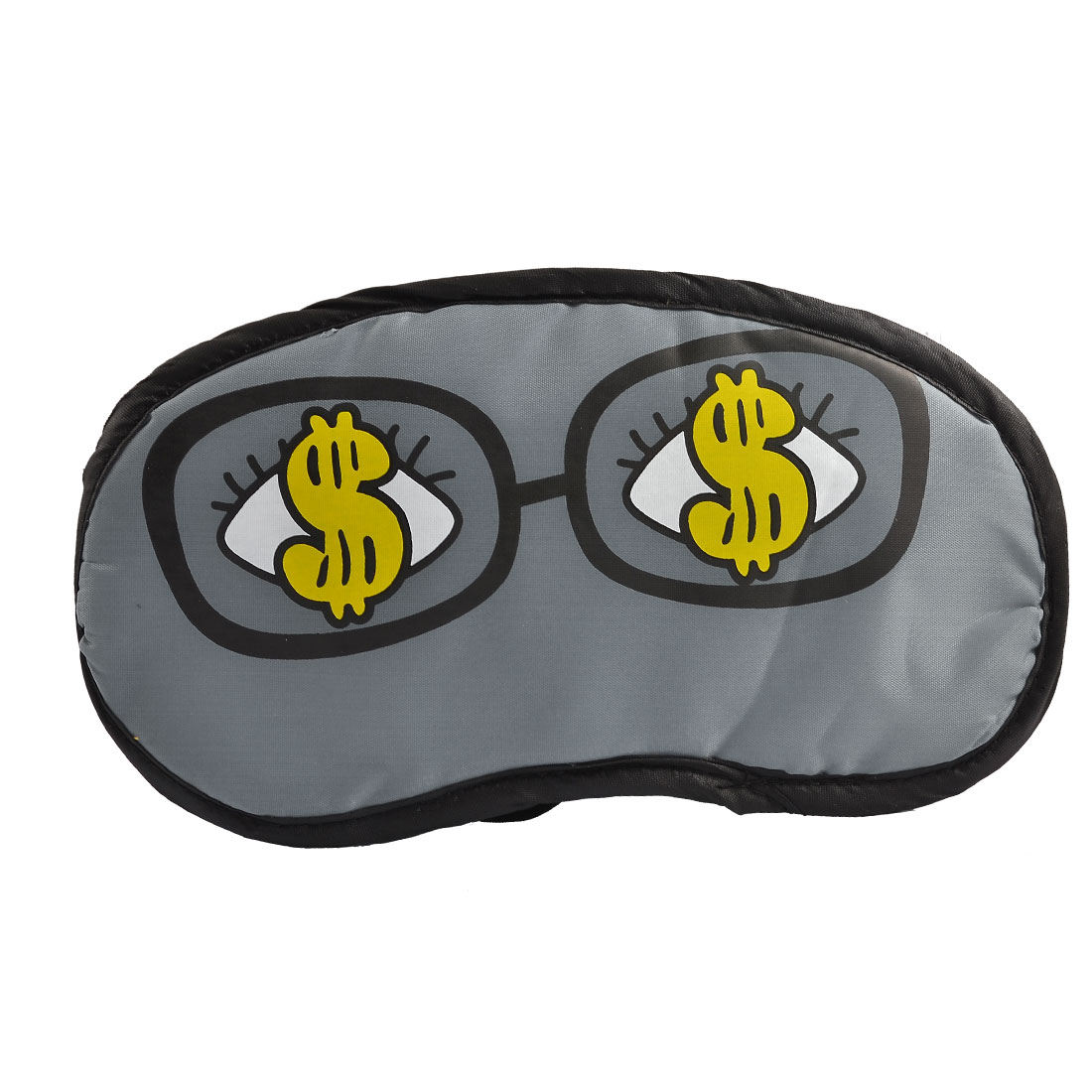 Built-in Sponge Dollar Eyes Print Gray Blindfold Eye Cover Eyeshade