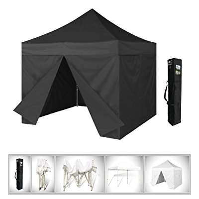 eurmax 10x10 ez pop up 4 wall canopy instant party tent portable outdoor
