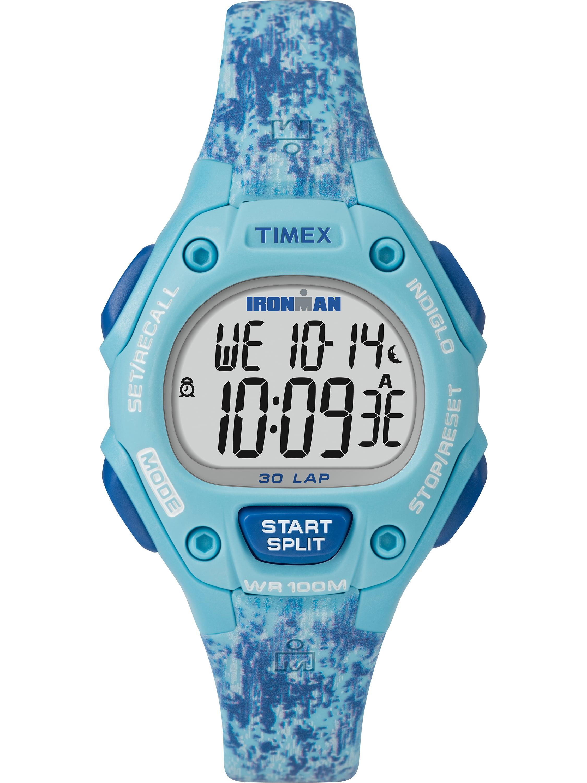 Women's Ironman Classic 30 Mid-Size Blue Dye Pattern Watch, Resin Strap