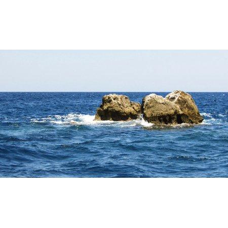 Natures Image Reef Rock (LAMINATED POSTER Reef Greece Nature Sea Skiathos Rocks Island Poster Print 11 x 17)
