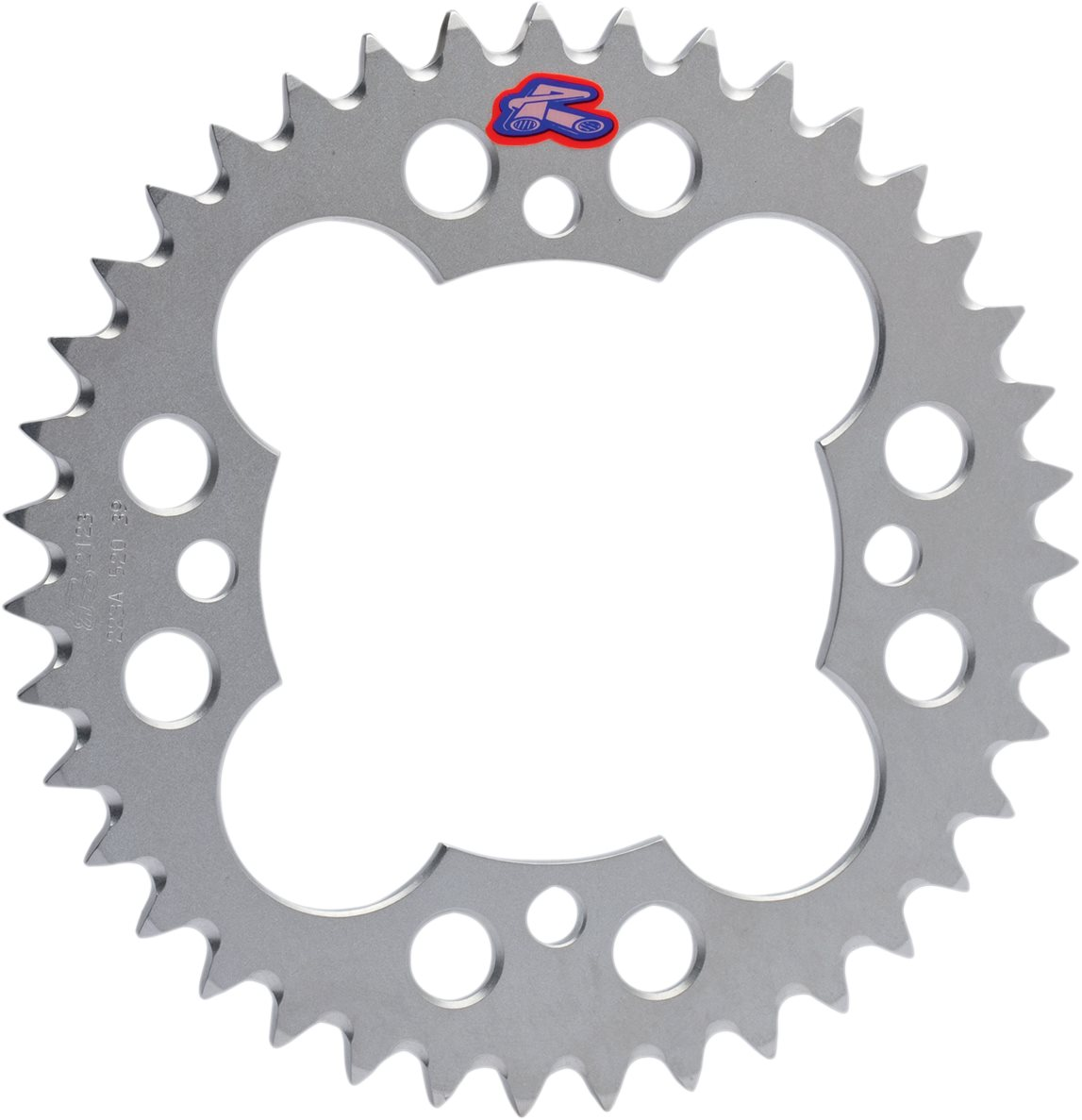 Renthal Rear Aluminum Sprocket 38 Tooth Silver (223A-520-38GESI)