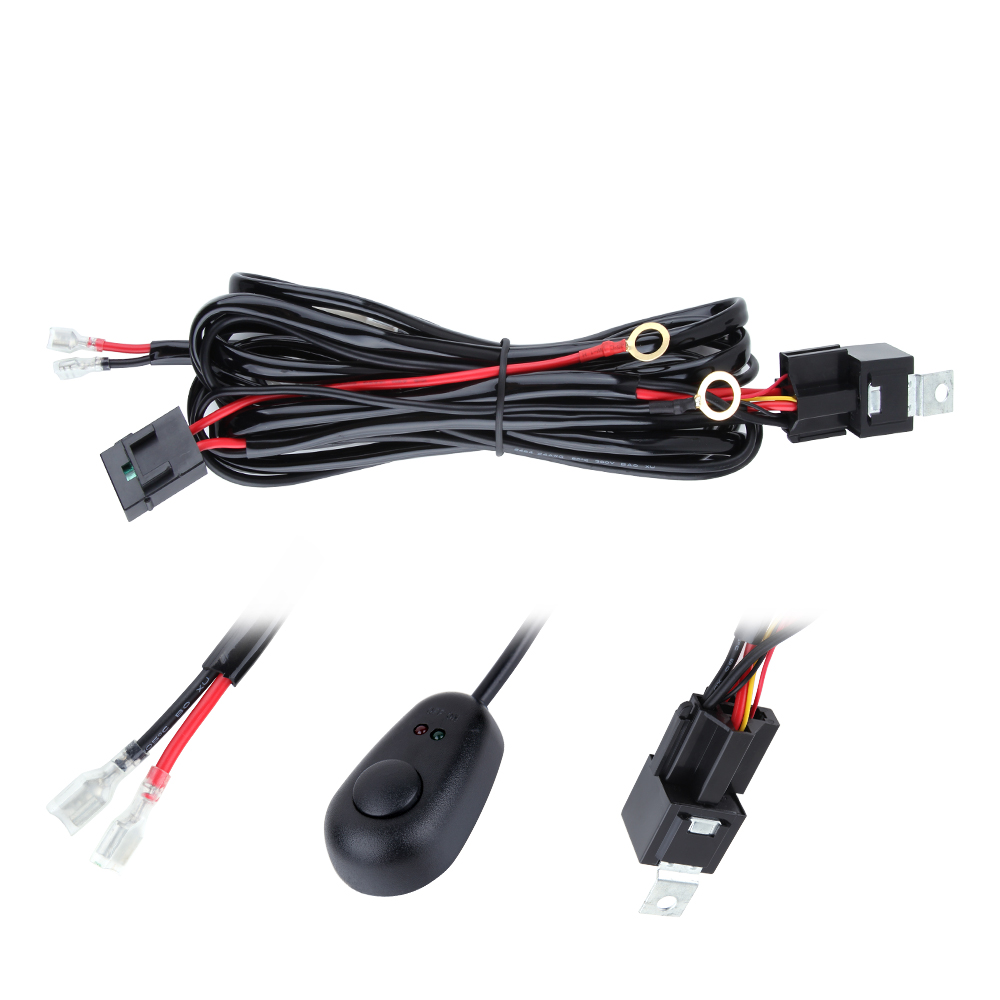 Spotlight Universal Wiring Harness Library 3m 10ft Light Annt Waterproof 12v 40a Led Off Road Bar