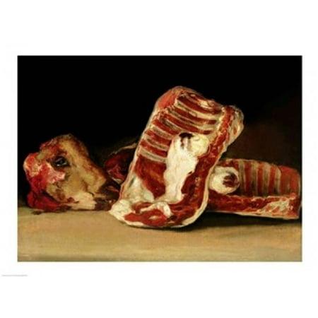 Still Life of Sheeps Ribs & Head Poster Print by Francisco De Goya - 36 x 24 in. - Large - image 1 de 1