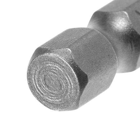 "5Pcs 1/4"" Hex Shank 100mm Length Magnetic Hex Head H4 Screwdriver Bits S2 Alloy Steel - image 3 de 4"