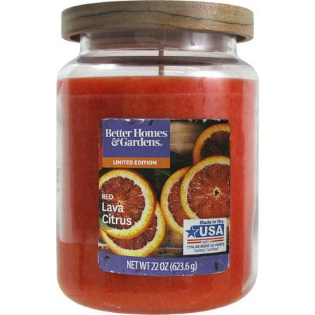 Better Homes & Gardens Red Lava Citrus 22 oz. Jar Candle (22 Oz Jar Candle Warmer)