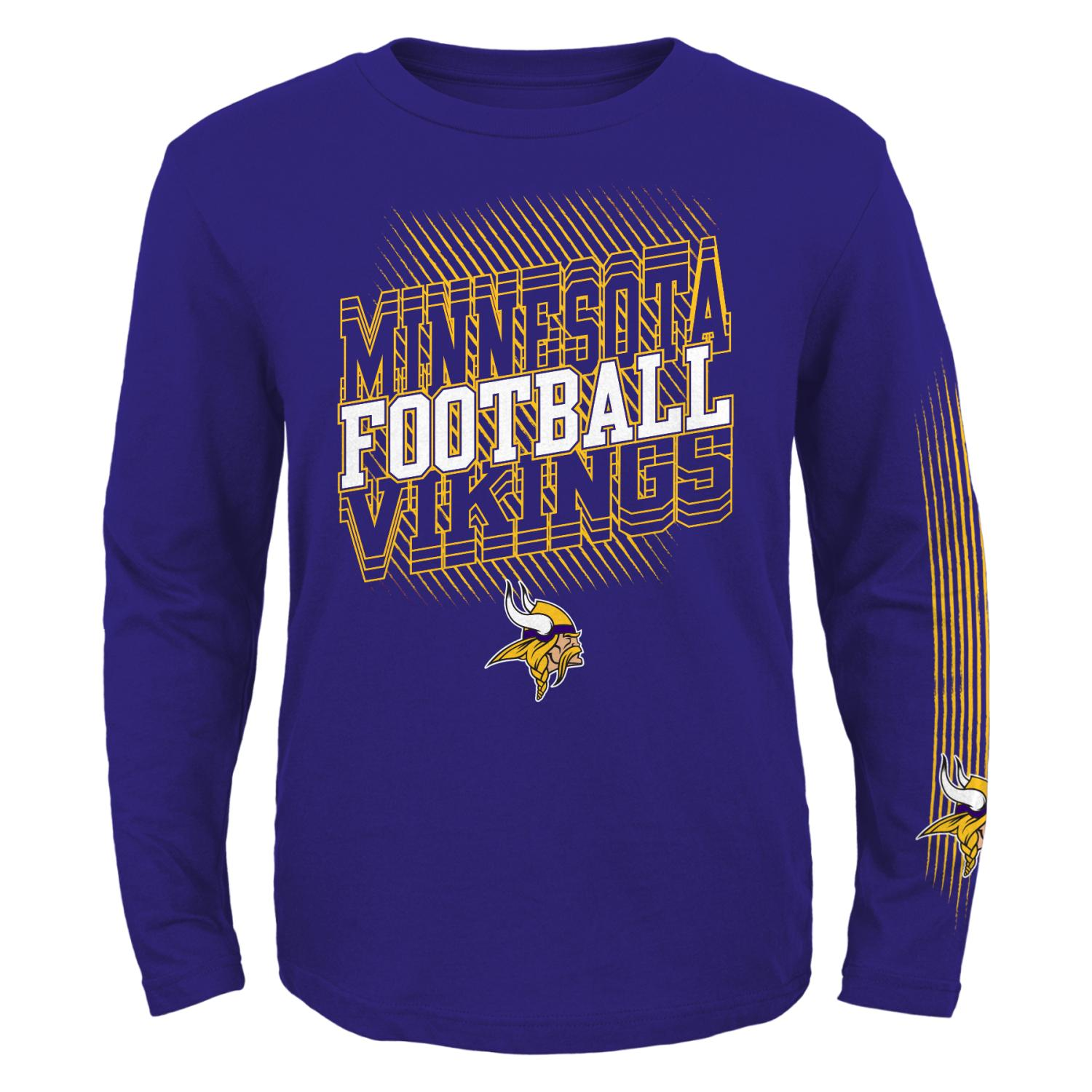 "Minnesota Vikings Youth NFL ""Frequency"" Long Sleeve T-Shirt"