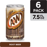 A&W Root Beer, 7.5 fl oz cans, 6 pack