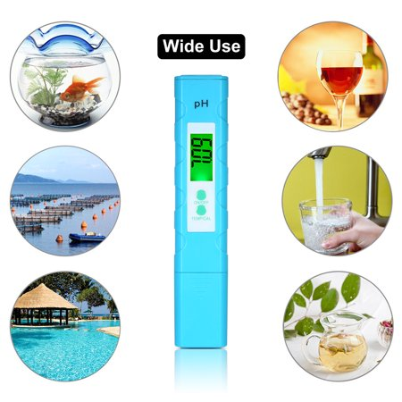 Digital LCD pH Meter pH & Temperature Test Pen Portable Auto Temp Compensation High-Accuracy Aquarium Water Quality Tester - image 6 de 7