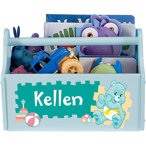 Personalized Care Bears Let's Play Light Blue Toy Caddy