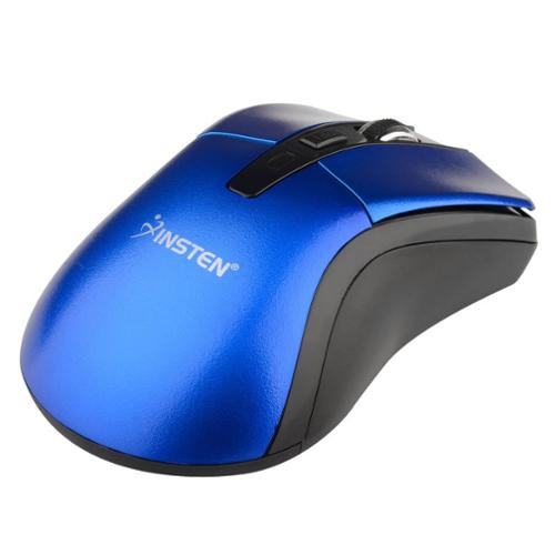 Insten Blue 2.4G Cordless 4 Keys Wireless Optical Mouse For Computer Laptop Desktop PC