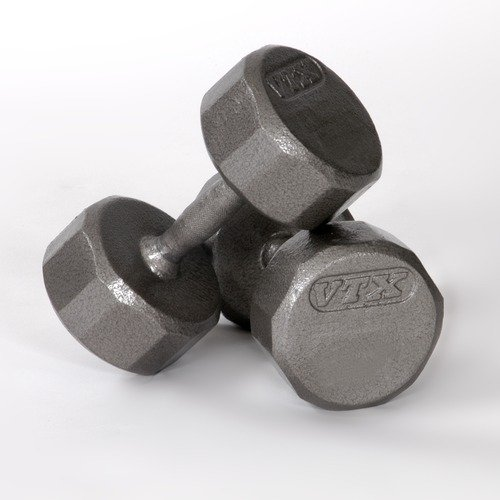 VTX 15 lbs 12-Sided Cast Dumbbells (Set of 2)