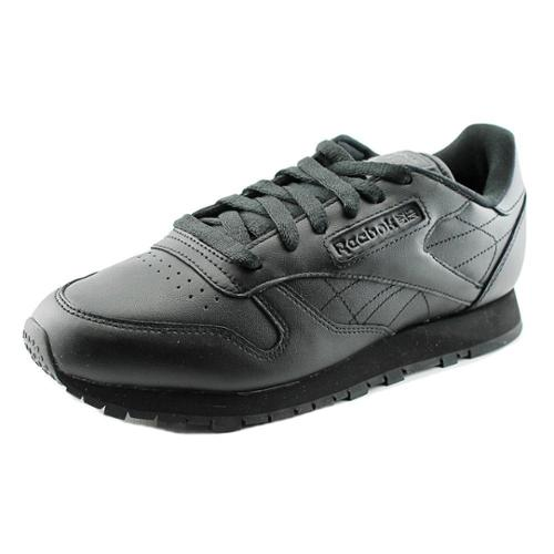 Reebok Cl Leather Women US 7 Black Tennis Shoe