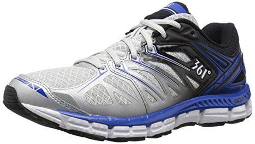 361 Men's Sensation Running Shoe, Gray/Black/Nautical Blue, 8.5 M US