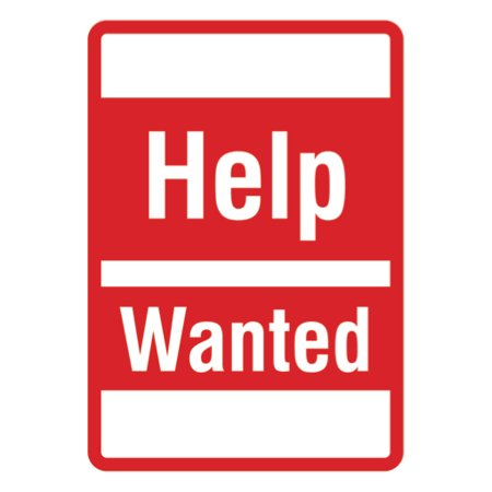 Most Wanted Sign (Help Wanted - Large Business Sign, 12x18 )