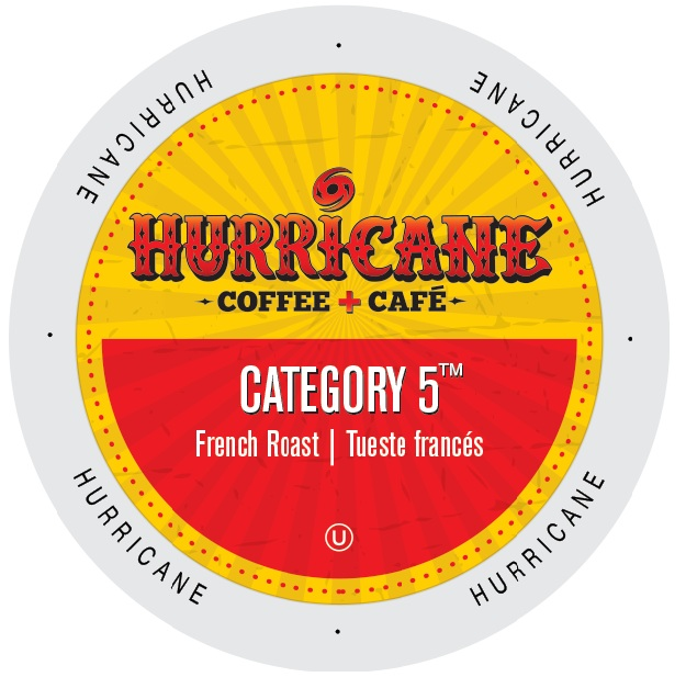 Hurricane Coffee And Tea Category 5, Rainforest Alliance, Single Serve Cup Portion Pack for Keurig K-Cup Brewers, 96 Count