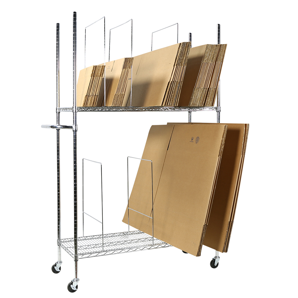 Apollo Hardware A-2WCS3506C 2-Tier Wire Carton Stand Unit (Chrome)