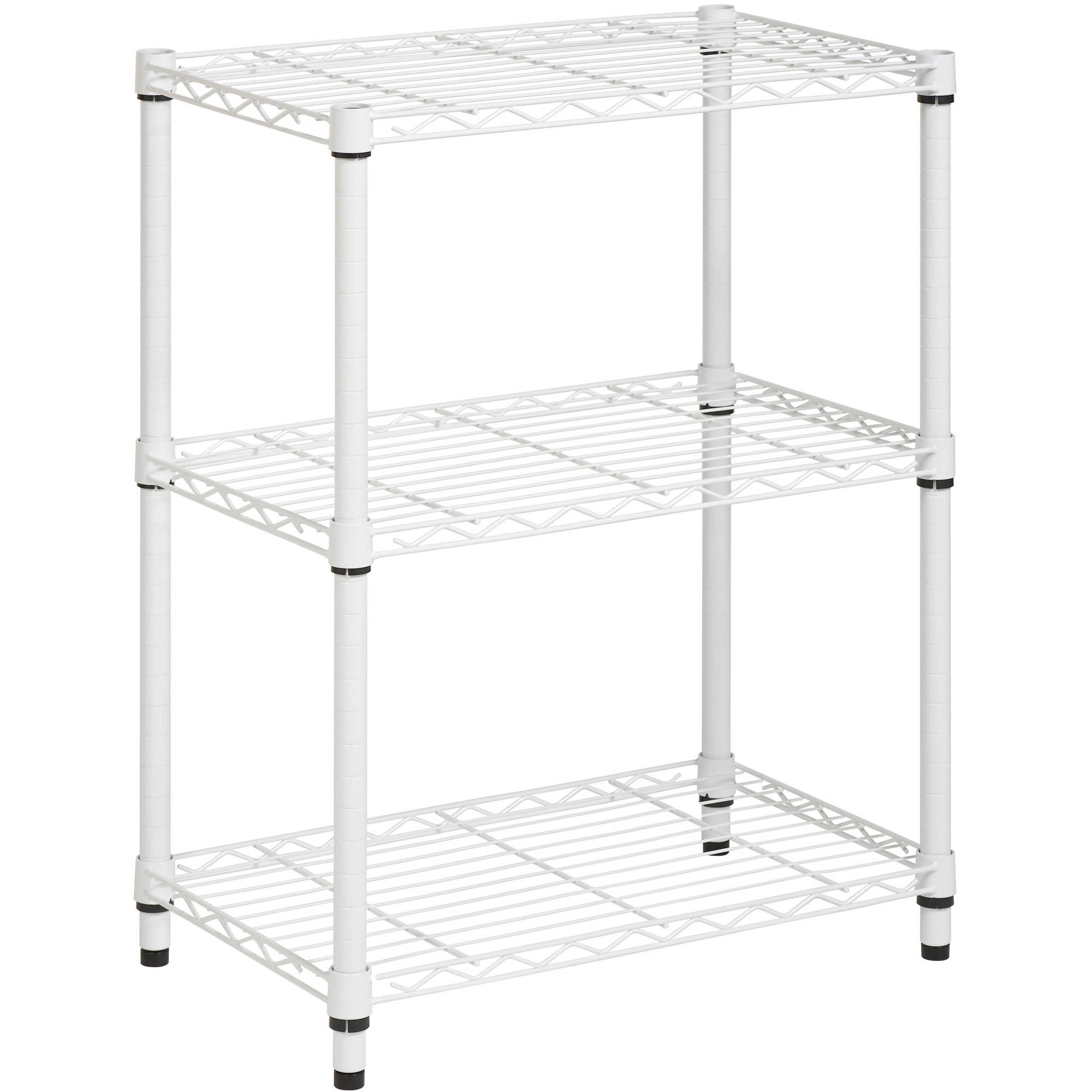 Honey Can Do 3-Shelf Steel Storage Shelving Unit, White - Walmart.com