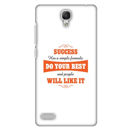 Xiaomi Redmi Note Prime Case, Xiaomi Redmi Note 4G Case - Success Do Your Best,Hard Plastic Back Cover. Slim Profile Cute Printed Designer Snap on Case with Screen Cleaning (Best Of Amazon Prime Day)