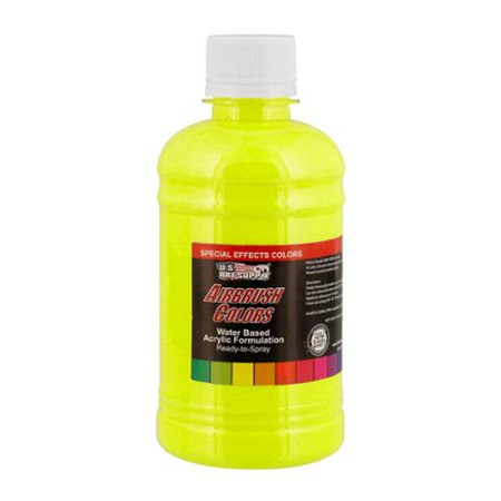 Green Special Effects (US Art Supply 8-Ounce Special Effects Neon Green Airbrush Paint)