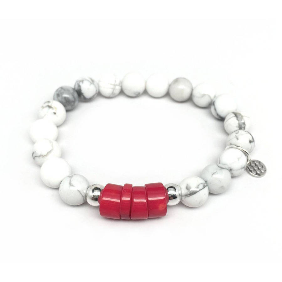 "Julieta Jewelry White Howlite ""Coral"" Sterling Silver Stretch Bracelet by Julieta Jewelry"