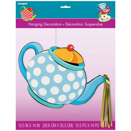 Hanging Teapot Alice in Wonderland Tea Party Decoration, 17 in, 1ct