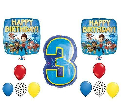 PAW Patrol 3rd Happy Birthday Balloon Decoration Kit