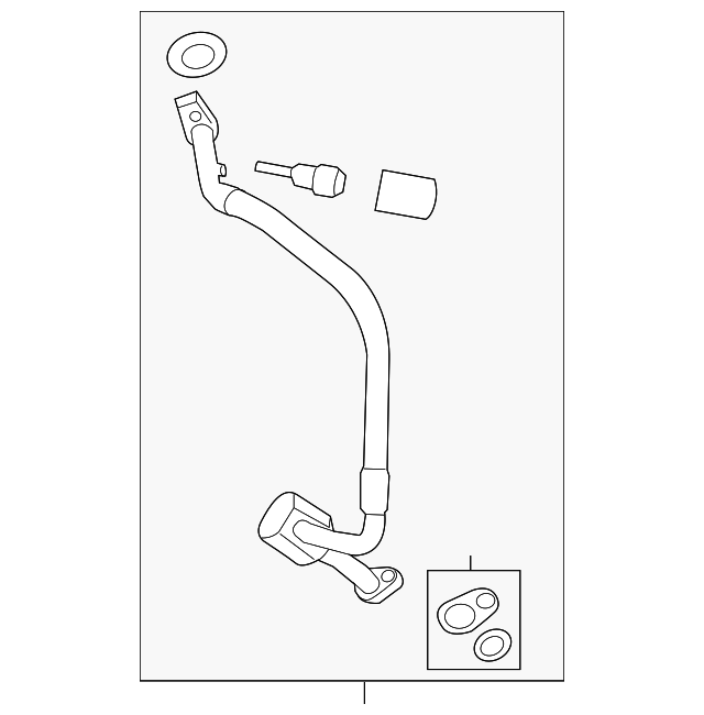 Genuine Oe Ford Evaporator Tube Cv6z 19d742 E