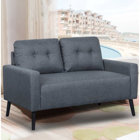 US Pride Furniture™ City of Angels Mid-Century Tufted Loveseat, Dark Gray](City Of Seatac)