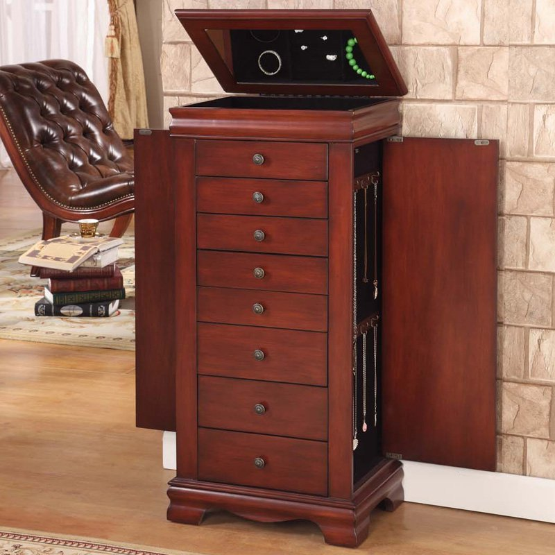Marquis 8 Drawer Locking Jewelry Armoire