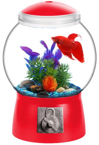 """Aqua Culture 1.5-Gallon Gumball Aquarium, LED Lighting, 9""""DIA x 13""""H by Koller Products"""