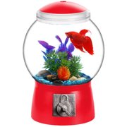 "Aqua Culture 1.5 Gallon Gumball Aquarium, LED Lighting 9""DIA x 13""H"