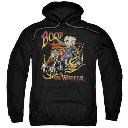 Betty Boop On Wheels Mens Pullover Hoodie