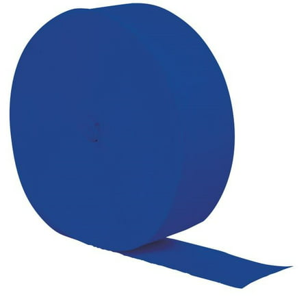 Touch of Color Crepe Streamer, 81 Ft, Cobalt, 1 Ct