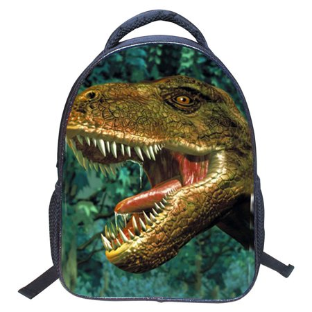 Baby Toddler Kids Child 3D Animals Cool Dinosaur Print Canvas Backpack Schoolbag Shoulder Bag Children Book Bag for Kindergarten, Xmas Gift for Student (Dinosaur Pattern 3) - Halloween Patterns For Kindergarten