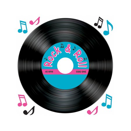 New Vinyl Record And Music Notes Peel 'N Place Party Wall Clings Decorations - Music Note Decorations