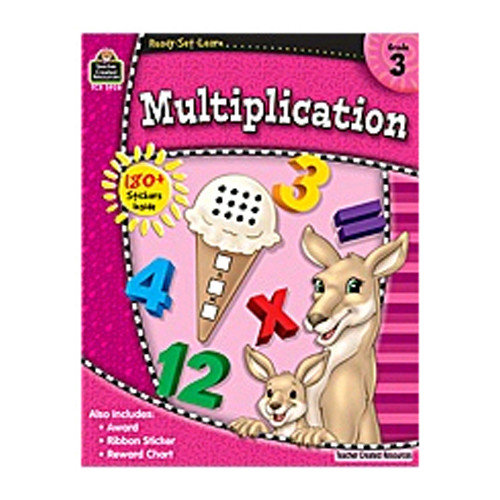 Teacher Created Resources Rsl Multiplication Grade 3 Book (Set of 3)