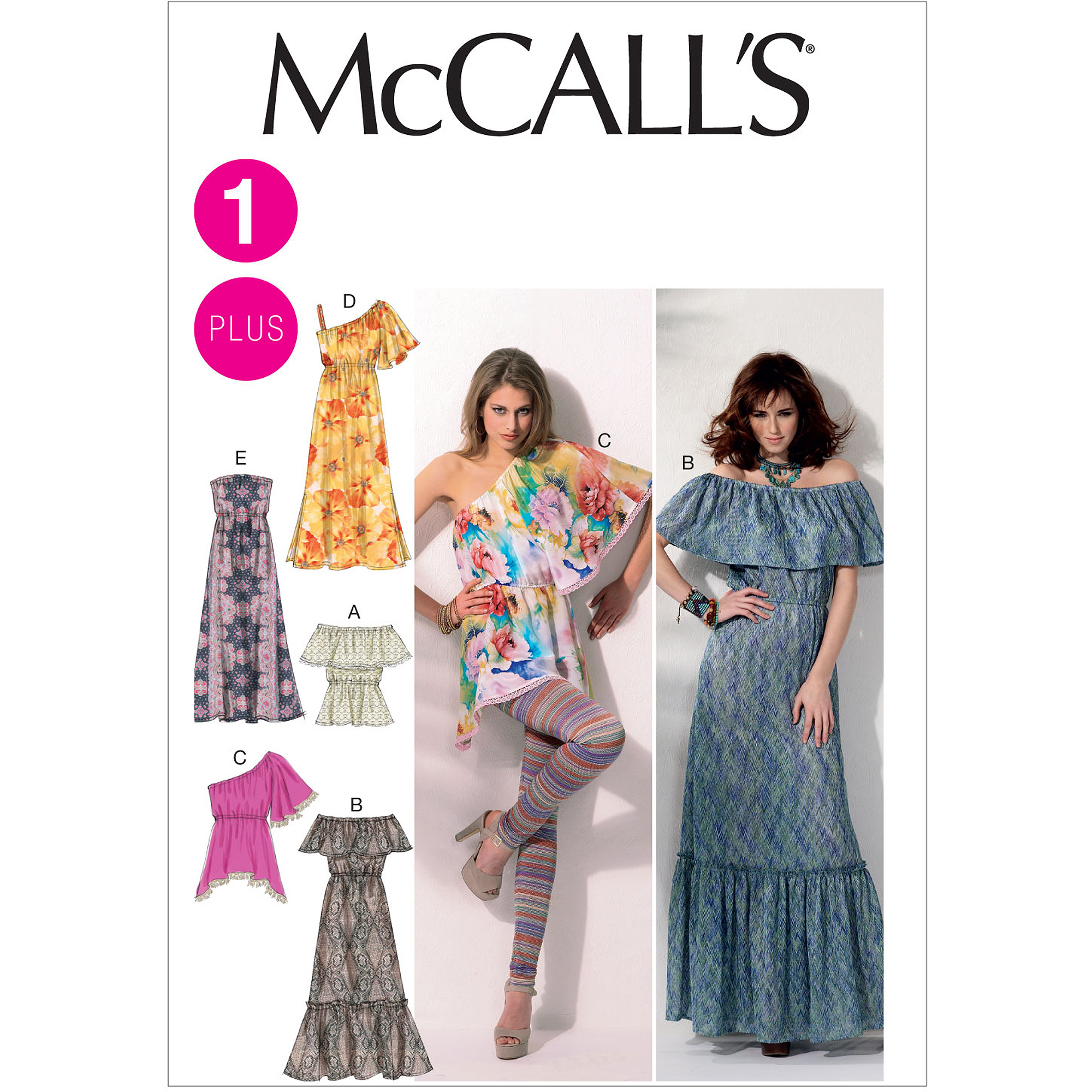 McCall's Pattern Misses' and Women's Tops and Dresses, B5 (8, 10, 12, 14, 16)