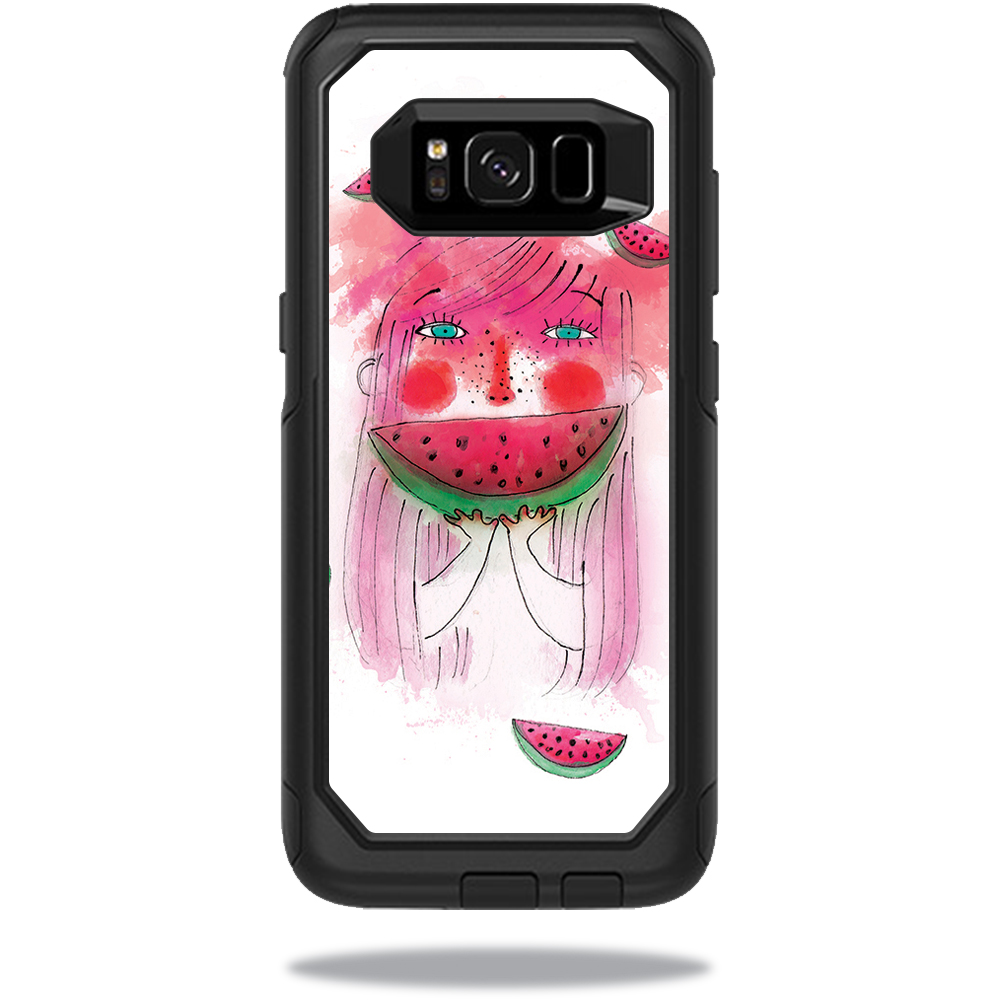 MightySkins Protective Vinyl Skin Decal for OtterBox Commuter Samsung Galaxy S8 Case sticker wrap cover sticker skins July Watermelon