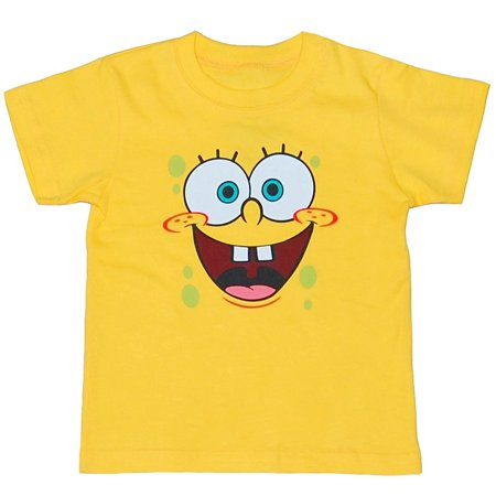 SpongeBob Face Toddler T-Shirt](Personalized Spongebob Birthday Shirts)
