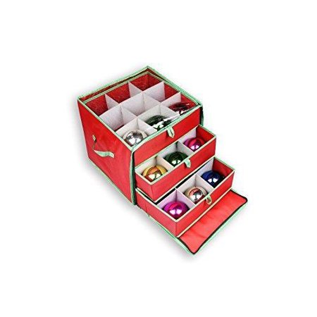 See-through Christmas Ornament Storage Box for 27 Large Ornaments ()