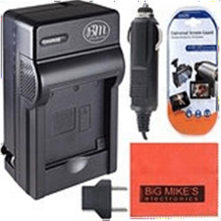 BM Premium NP-FH50 Battery Charger for Sony CyberShot DSC-HX1 DSC-HX100V DSC-HX200V HDR-TG5V Digital Camera + Cleaning Cloth + LCD Screen Protector